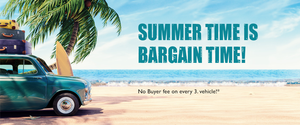 we waive the buyer fee on every third traded vehicle in August